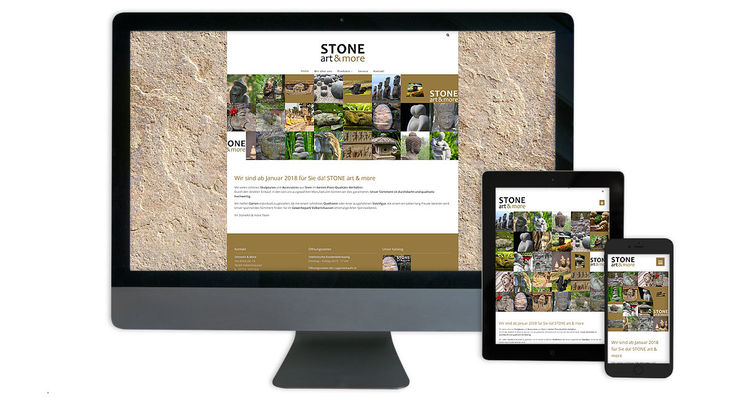 Stone art and more - Webdesign