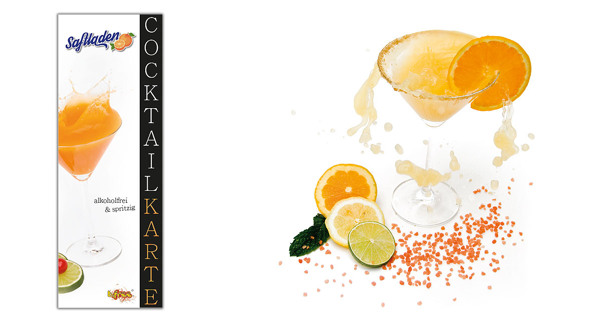 Food Design für Cocktailkarte - b.free