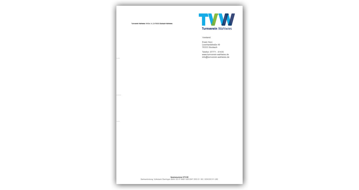 Briefpapier - Turnverein Wahlwies