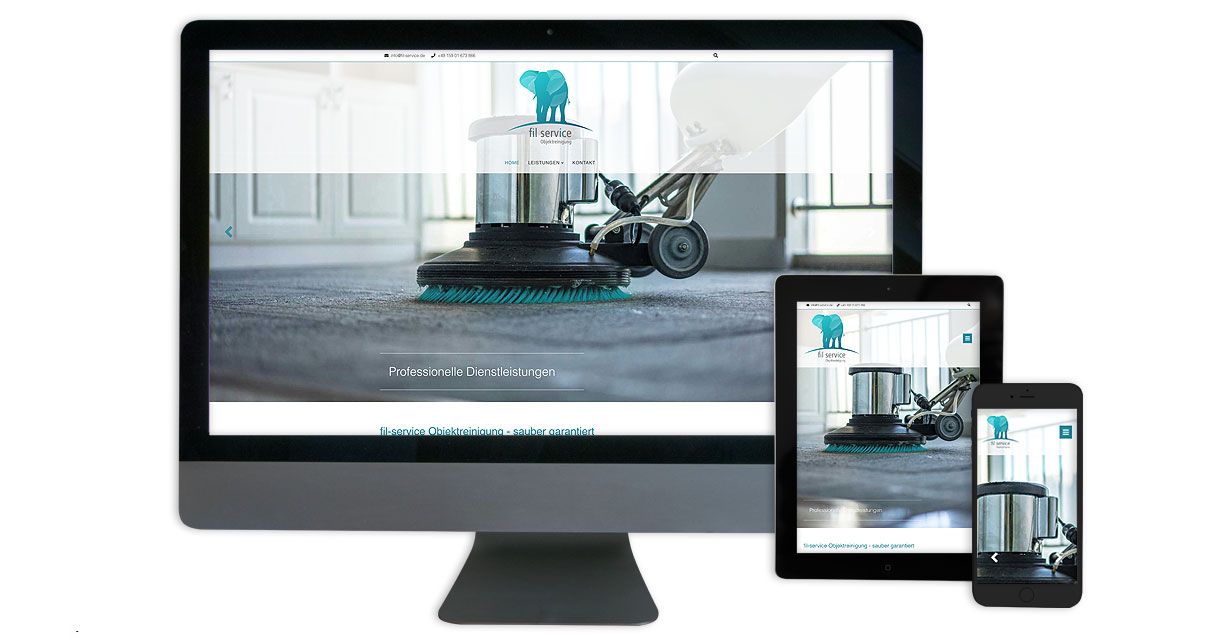 Screenshot Responsive Webdesign - Desktop Tablet Smartphone